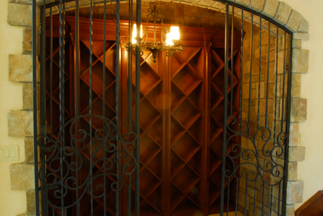 Custom Oak Wine Grotto