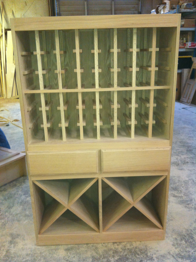 Custom Wine Racks in Progress