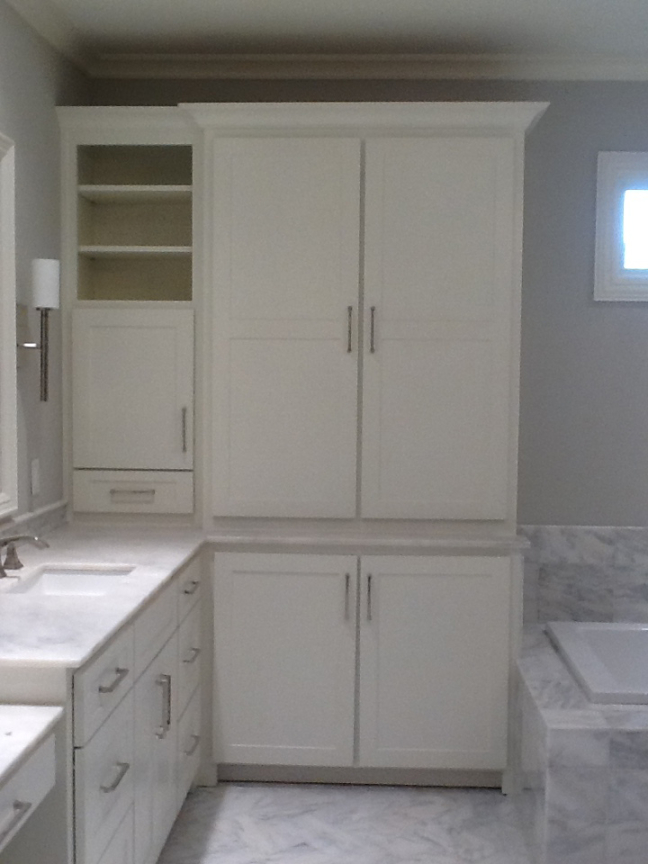 Custom Bathroom Storage