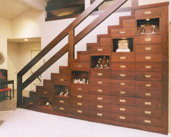 Custom Under Stair Storage Cabinets