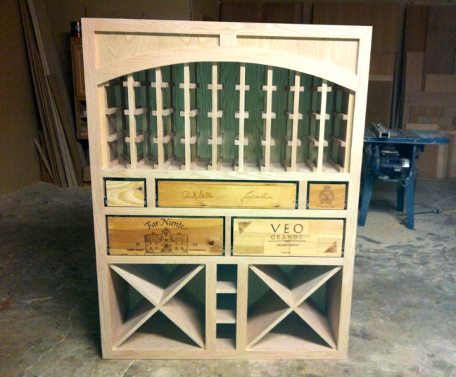 wine cabinet construction