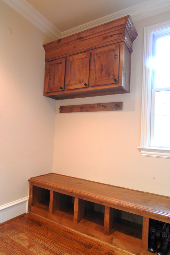 utility room cabinet woodwork