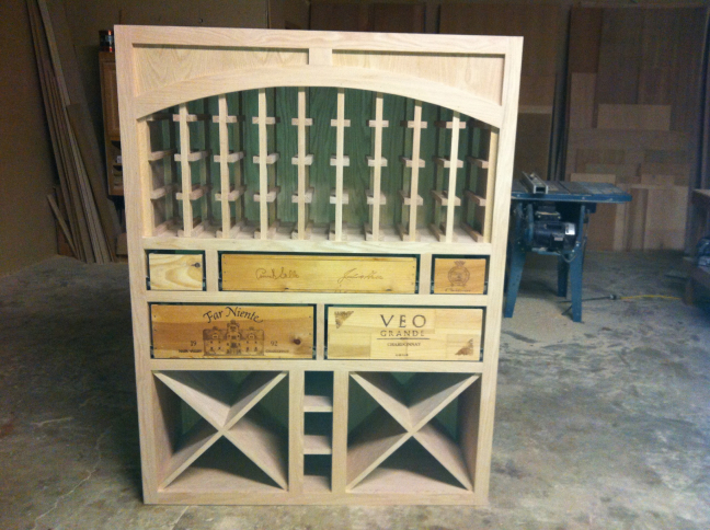 Custom Wine Rack Building