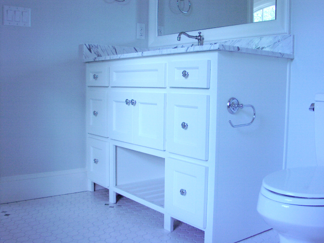 Cabinet and sink