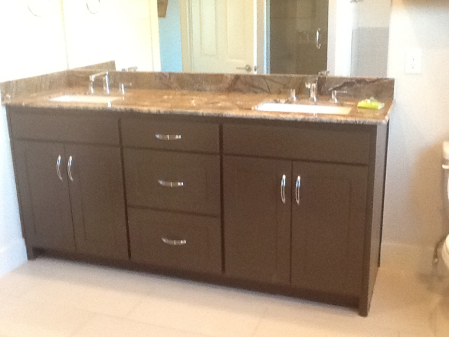 Beautiful Wood Cabinet and Countertop