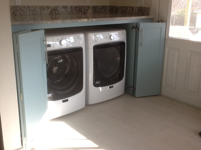 washer dryer cabinet and counter