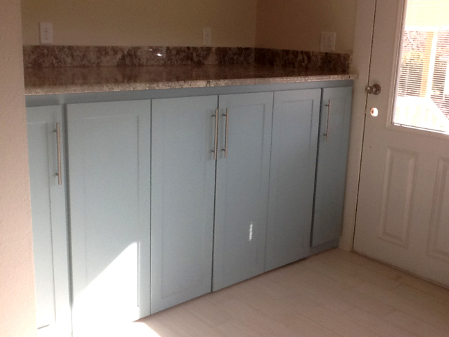 washer dryer cabinet and countertops